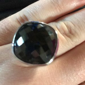 Jewelry - Silver and black onyx size 7